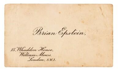 BRIAN EPSTEIN   Business card, c.1964