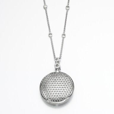 View 3. Thumbnail of Lot 138. Graff | Diamond 'Diamond on Diamond' necklace.