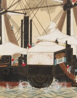 ANONYMOUS, EDO PERIOD, 19TH CENTURY, THE MISSISSIPPI STEAMBOAT ENTERING TOKYO HARBOUR IN 1853