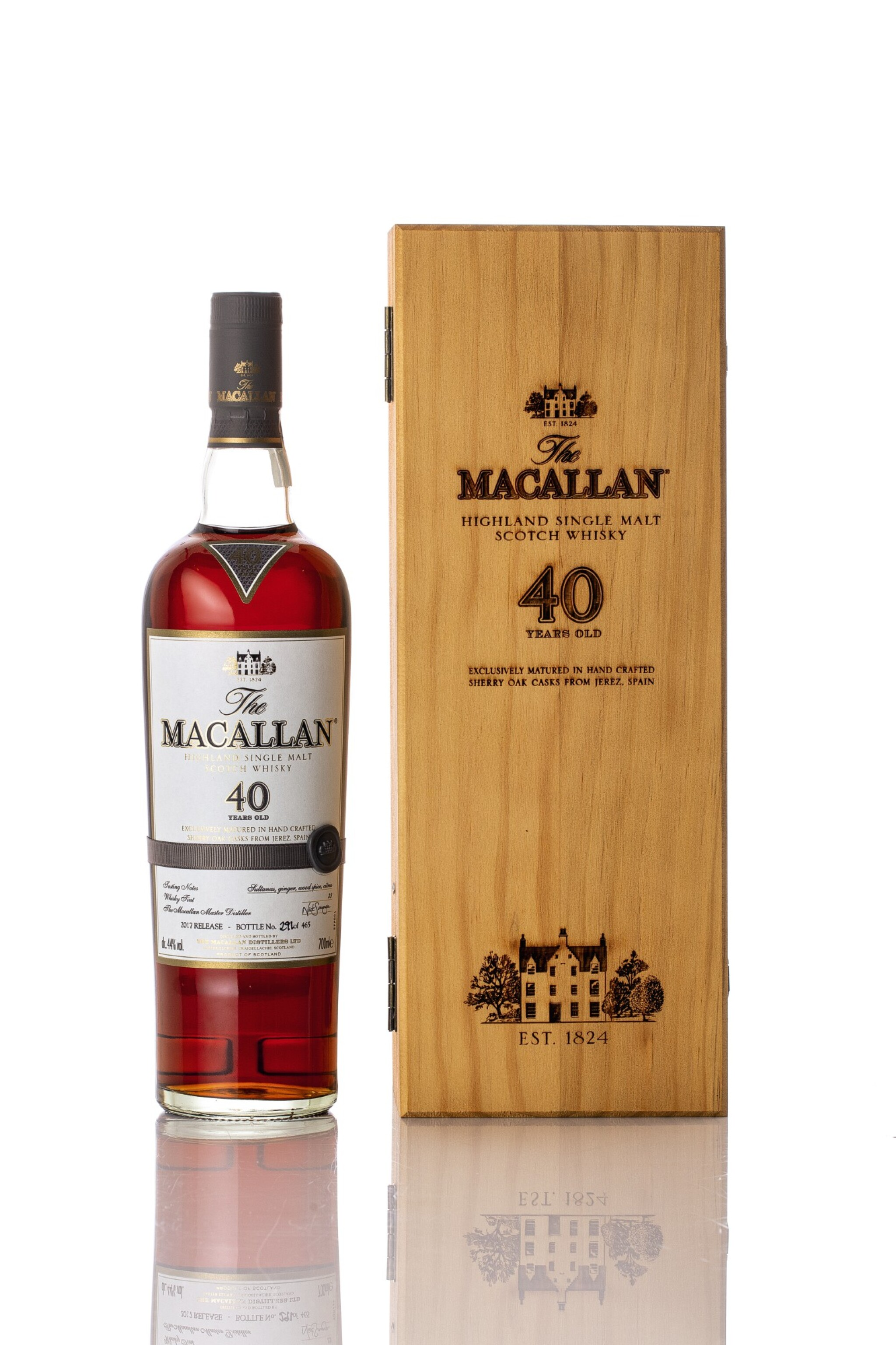 View full screen - View 1 of Lot 5517. The Macallan 40 Year Old 2017 Release 44.0 abv NV (1 BT70).