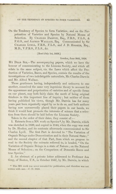 """DARWIN & WALLACE 