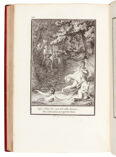 View 1. Thumbnail of Lot 128. Laborde, Choix de chansons, Paris, 1773, red morocco with arms of Tsar Paul I .