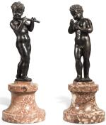 AFTER NICOLÒ ROCCATAGLIATA (CIRCA 1560-1629), ITALIAN, VENICE, 17TH CENTURY | PAIR OF MUSIC-MAKING PUTTI
