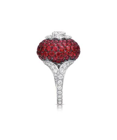 View 3. Thumbnail of Lot 51. GRAFF | RUBY AND DIAMOND RING 格拉夫 | 紅寶石配鑽石戒指.