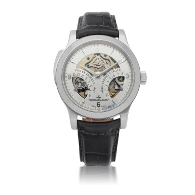 JAEGER-LECOULTRE |  MASTER MINUTE REPEATER , REF 151.6.67.S   PLATINUM MINUTE REPEATING WRISTWATCH WITH POWER RESERVE AND TORQUE INDICATION   CIRCA 2010