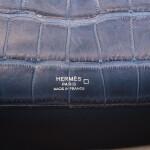 HERMÈS |  BLUE TEMPETE KELLY CUT OF MATTE MISSISSIPIENSIS ALLIGATOR WITH PALLADIUM HARDWARE
