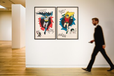 View 4. Thumbnail of Lot 118. BATMAN AND ROBIN (1966) TWO POSTERS, US.