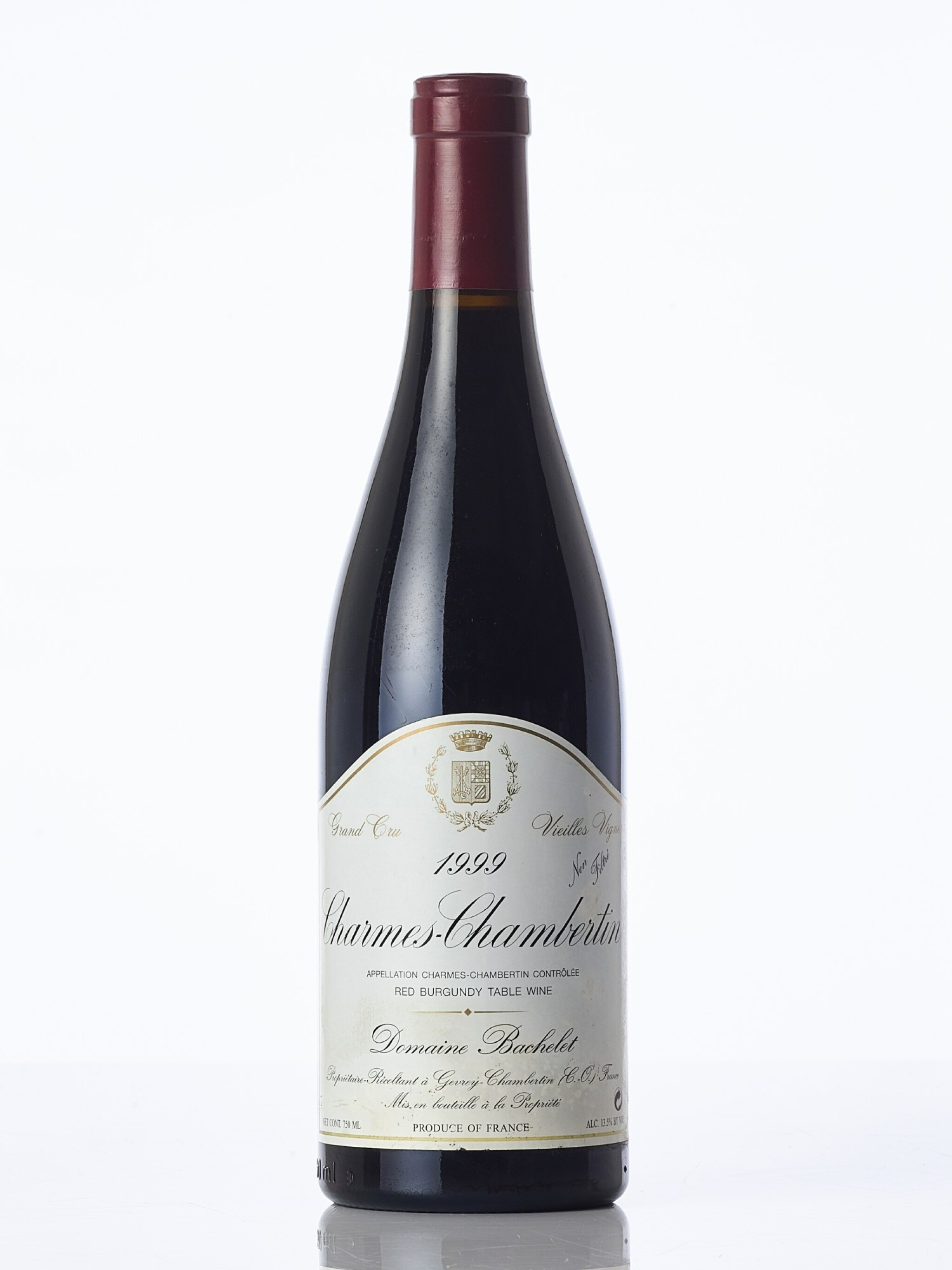 View full screen - View 1 of Lot 6322. Charmes Chambertin, Vieilles Vignes 1999 Domaine Bachelet (1 BT).