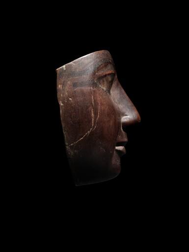 View 2. Thumbnail of Lot 58. An Egyptian Wood Mummy Mask, 22nd/24th Dynasty, 944-716 B.C..