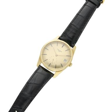View 4. Thumbnail of Lot 251. Reference 3558  A yellow gold automatic wristwatch with date, Made in 1968.