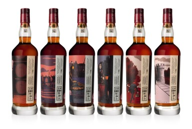 View 3. Thumbnail of Lot 1. The Macallan Red Collection with Exclusive Labels Illustrated by Javi Aznarez (6 bts 70cl).