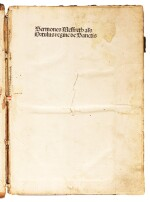 Sermones Meffreth, [Basel, not after 1485], part 3 of 3, contemporary stamped calf