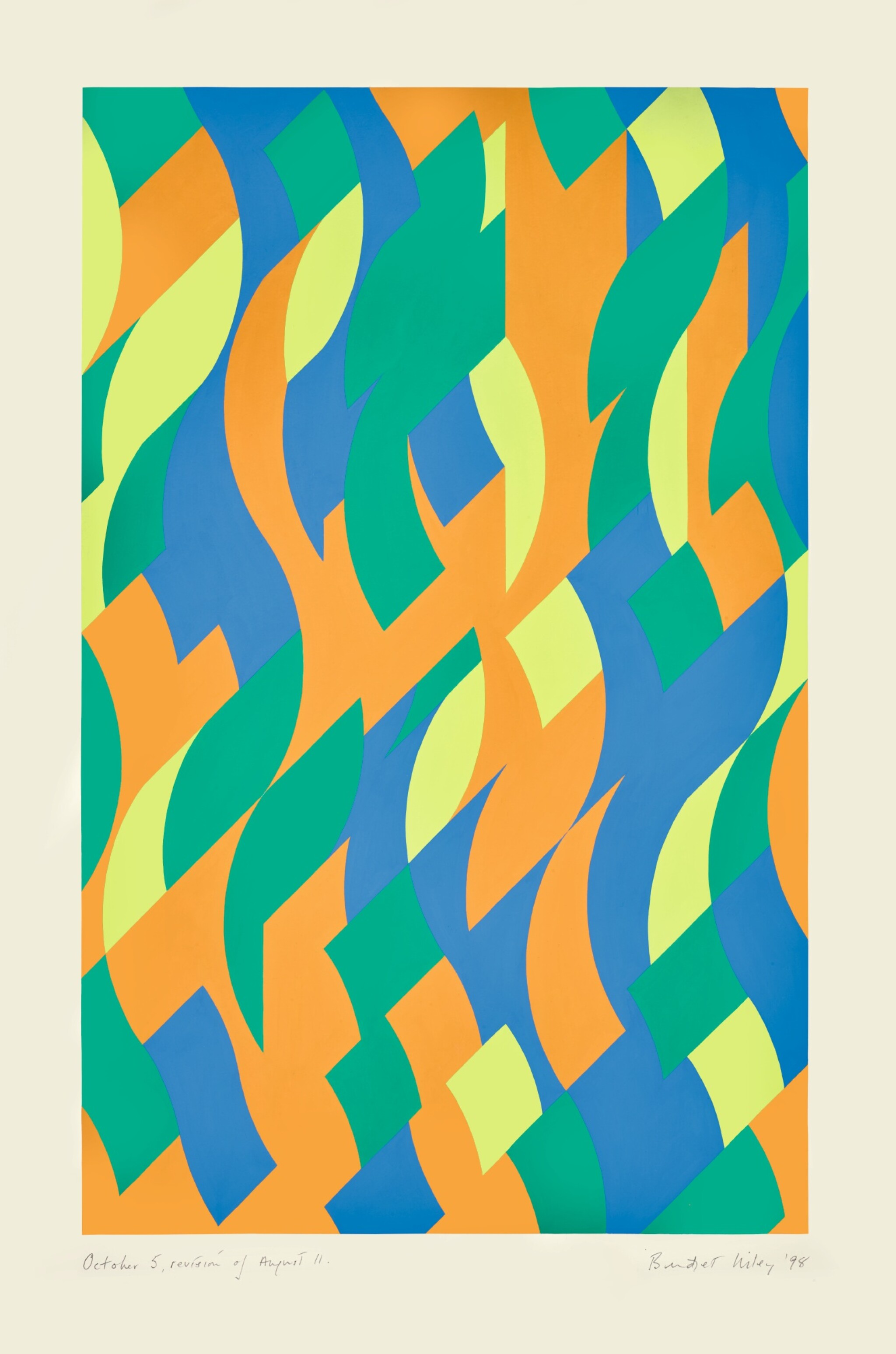 View full screen - View 1 of Lot 34. BRIDGET RILEY  |  OCTOBER 5, REVISION OF AUGUST 11..