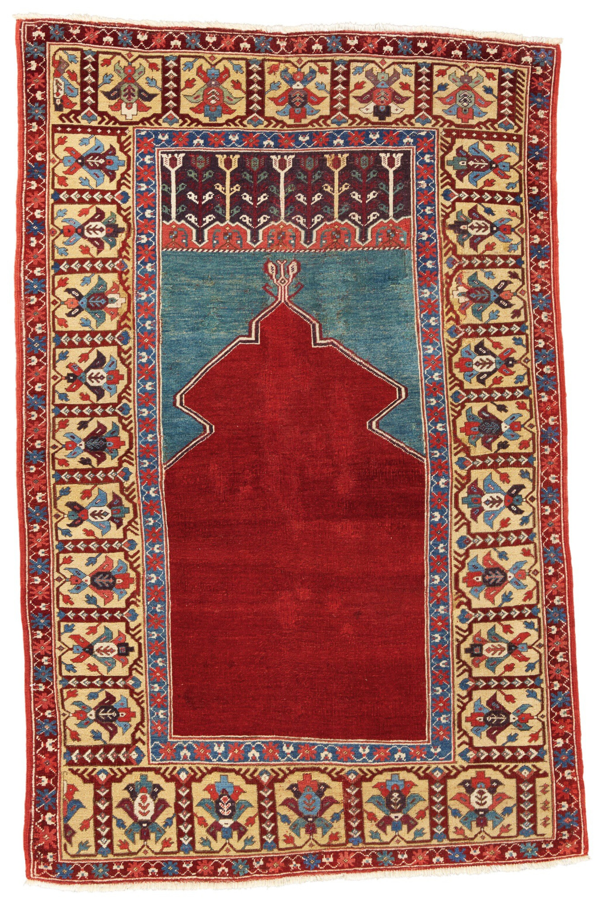 View full screen - View 1 of Lot 263. A RARE ANATOLIAN NICHE RUG, PROBABLY LADIK REGION, SOUTH-CENTRAL ANATOLIA.
