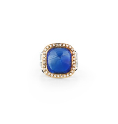 BAGUE SAPHIR DU CACHEMIRE ET DIAMANTS | KASHMIR SAPPHIRE AND DIAMOND RING
