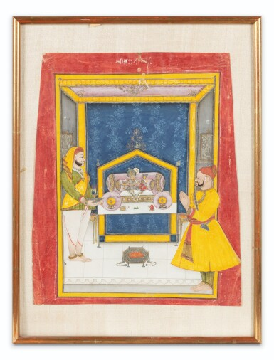 View 10. Thumbnail of Lot 35. RAJASTHAN, 19TH CENTURY | SEVEN INDIAN MINIATURES.