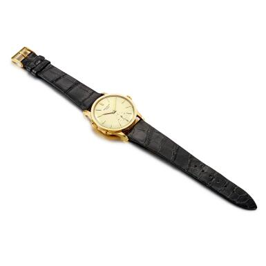 View 5. Thumbnail of Lot 2266. Push Button Time, Reference 2597 | A yellow gold travel time wristwatch, Made in 1963 | 百達翡麗 | Push Button Time 型號2597 | 黃金旅行時間腕錶,1963年製.