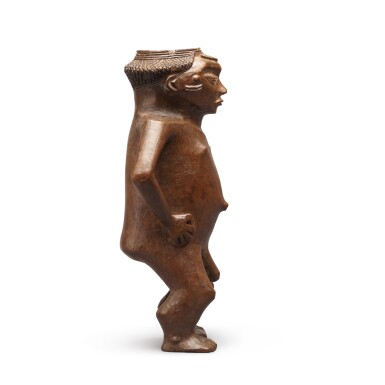 View 4. Thumbnail of Lot 182. Democratic Republic of Congo, Pende or Wongo Peoples, late 19th century   Anthropomorphic Cup .