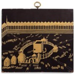 A LACQUER PLAQUE DEPICTING THE KA'BA, JAPAN FOR THE EXPORT MARKET, 18TH CENTURY