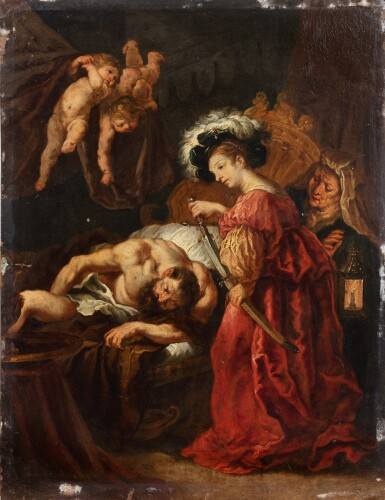 View 1. Thumbnail of Lot 139. Judith beheading Holofernes.