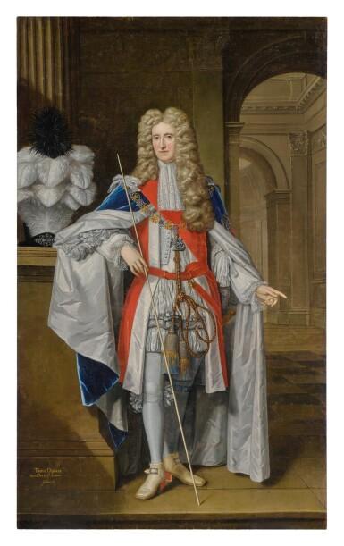 View 1. Thumbnail of Lot 118. THOMAS GIBSON   PORTRAIT OF THOMAS OSBORNE (1632 - 1712), FIRST DUKE OF LEEDS, LORD DANBY, FULL-LENGTH.