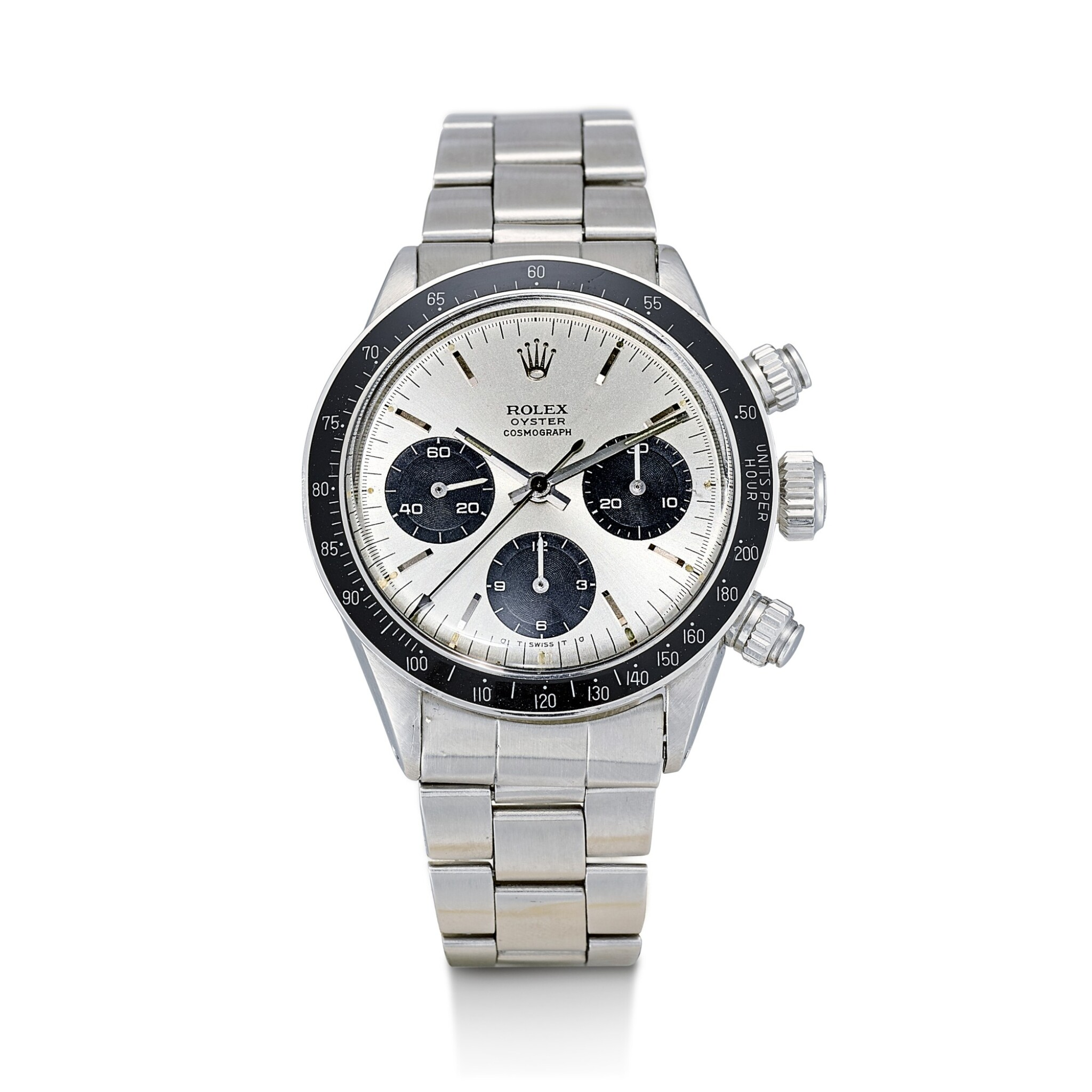 View full screen - View 1 of Lot 163. ROLEX | COSMOGRAPH DAYTONA, REFERENCE 6263, A STAINLESS STEEL CHRONOGRAPH WRISTWATCH WITH SIGMA DIAL AND BRACELET, CIRCA 1972.