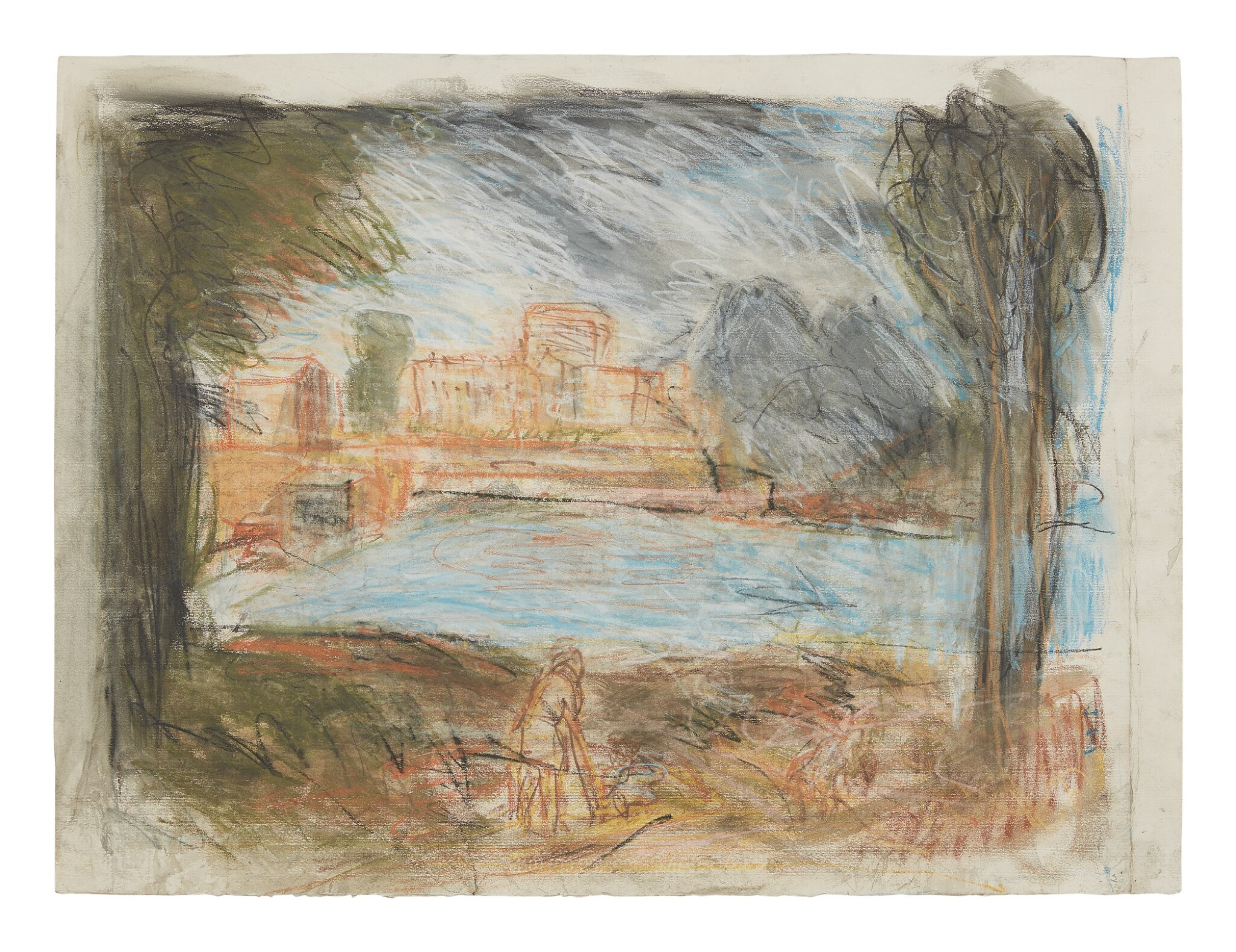 View full screen - View 1 of Lot 413. LEON KOSSOFF   LANDSCAPE WITH CALM NO. 2.