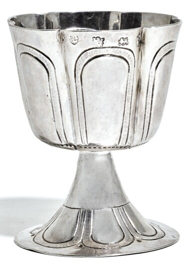 View 1. Thumbnail of Lot 108. A COMMONWEALTH SILVER WINE CUP, ATTRIBUTED TO EDWARD TREENE, LONDON, 1652.
