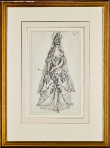 View 2. Thumbnail of Lot 71. Costume Design for the Lilac Fairy in La Belle au Bois Dormant.