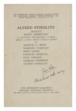 ALFRED STIEGLITZ   COLLECTION OF STIEGLITZ GALLERY CATALOGUES FOR AN INTIMATE GALLERY AND AN INTIMATE PLACE, 1923–1946
