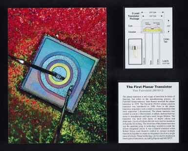 View 2. Thumbnail of Lot 43. A COLLECTION OF FRAMED MICROCHIPS.