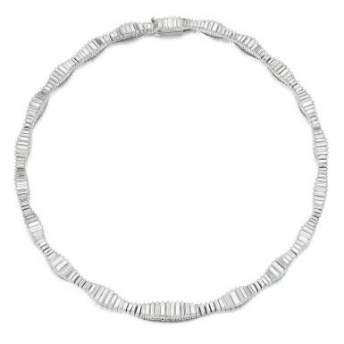 View 2. Thumbnail of Lot 50. Harry Winston   Diamond necklace.