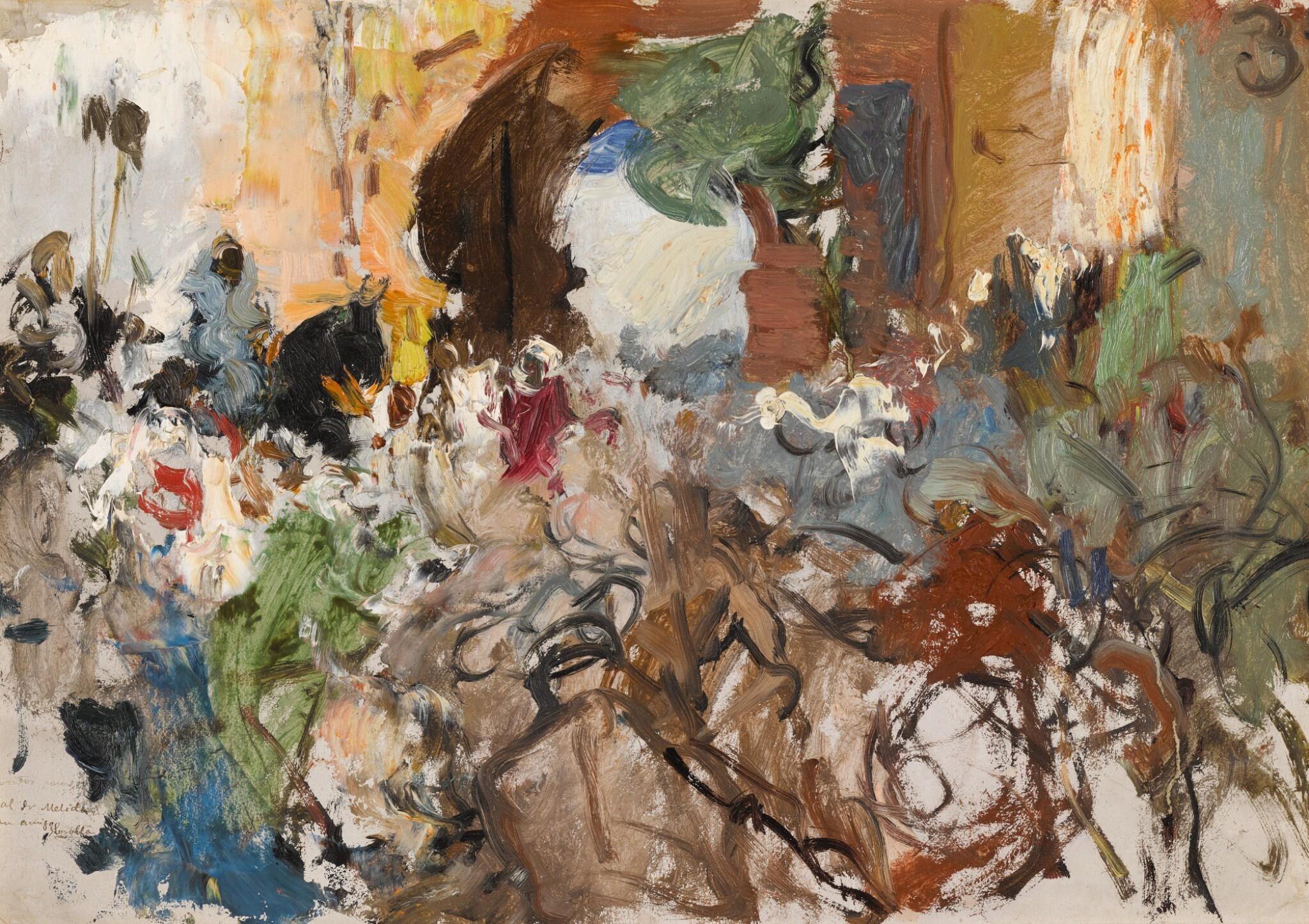 JOAQUÍN SOROLLA | Estudio para Moro a caballo. La sorpresa de Zahara (study for Moorish Rider)