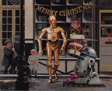THE EMPIRE STRIKES BACK, EMI ELSTREE STUDIOS CHRISTMAS CARD AND ENVELOPE, BRITISH, 1980