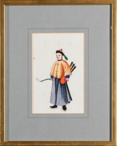 View 3. Thumbnail of Lot 163. A set of fourteen Chinese paintings on silk, Canton, 19th century.