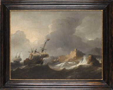 View 2. Thumbnail of Lot 213. AERNOUT SMIT | SHIPS IN DISTRESS OFF A ROCKY COAST.