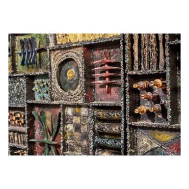 """View 2. Thumbnail of Lot 120. A Unique """"Sculpture Front"""" Cabinet."""