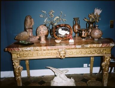 View 3. Thumbnail of Lot 169. A pair of George IV mahogany hall chairs, circa 1825.