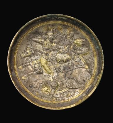 View 1. Thumbnail of Lot 85. A SASANIAN SILVER-GILT PLATE, CIRCA 4TH CENTURY A.D..