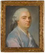 Portrait of a Gentleman wearing a blue coat