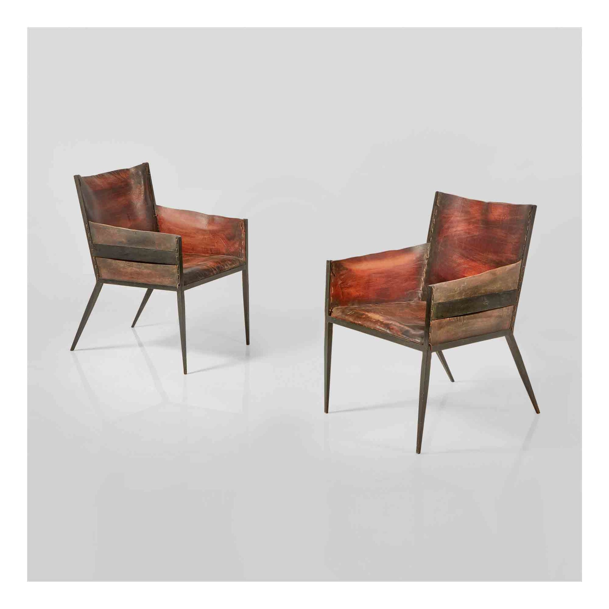 View 1 of Lot 350. Pair of Armchairs.