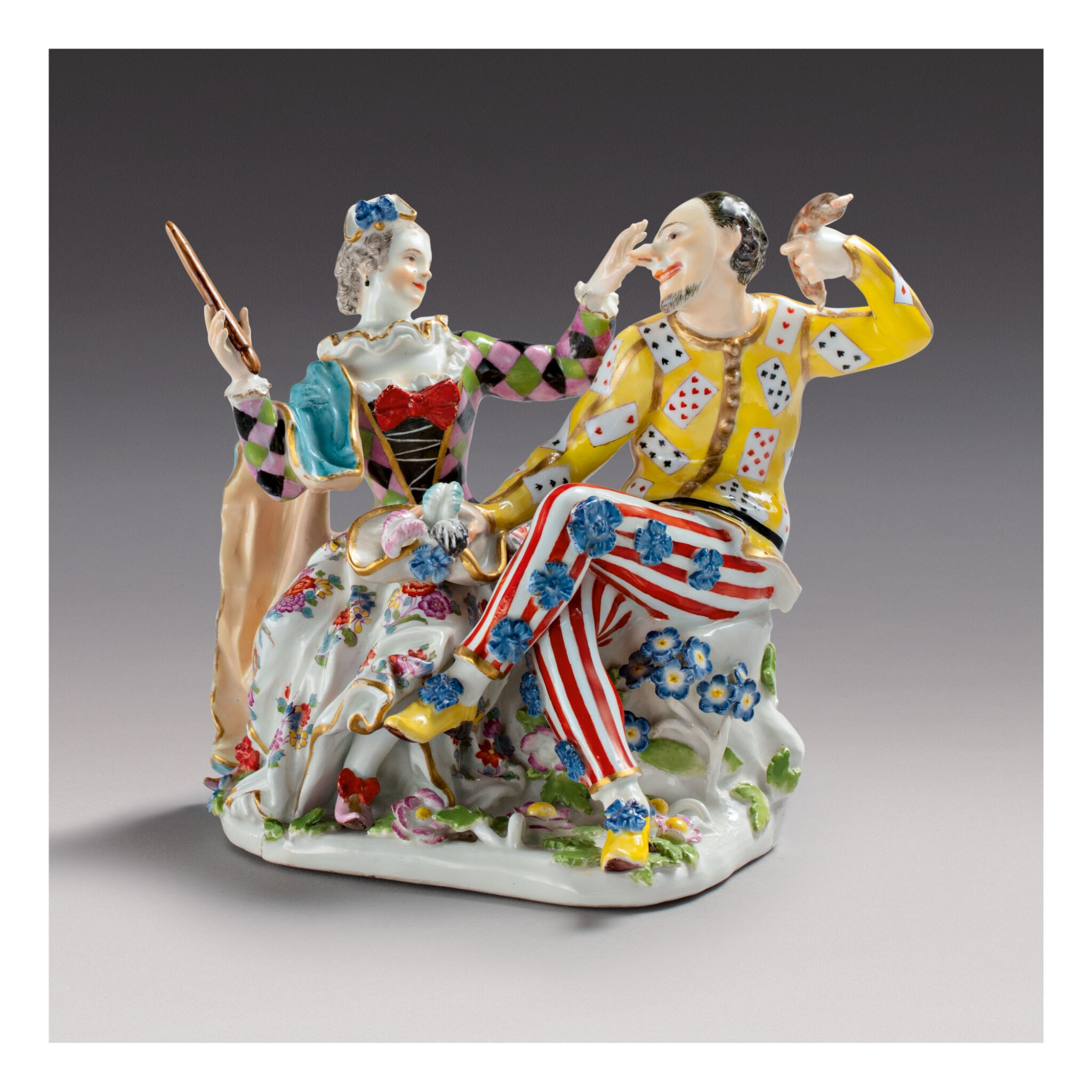 A RARE MEISSEN GROUP OF HARLEQUIN AND COLUMBINE CIRCA 1743 | Selected  Meissen and Other Ceramics from the Collection of Henry H. Arnhold |  Ceramics & Glass | Sotheby's