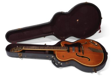 View 5. Thumbnail of Lot 21. GEORGE HARRISON | 1959 Hofner President 'thinline' semi-acoustic guitar, owned by him and given to Alan Herring.