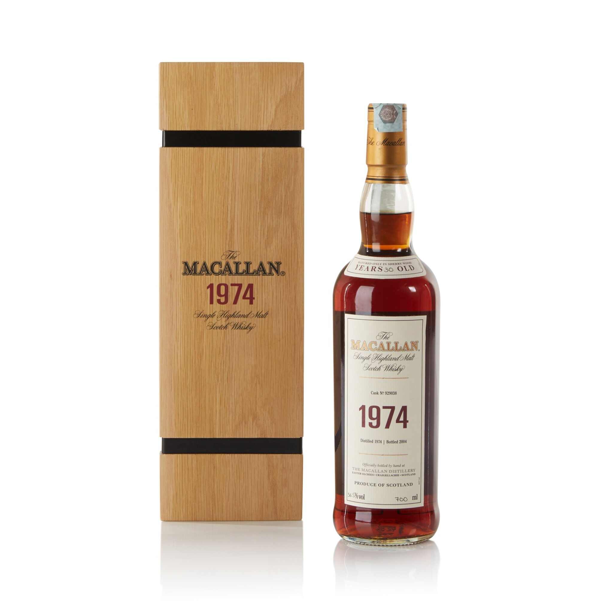 View full screen - View 1 of Lot 8. The Macallan Fine & Rare 30 Year Old 56.5 abv 1974.