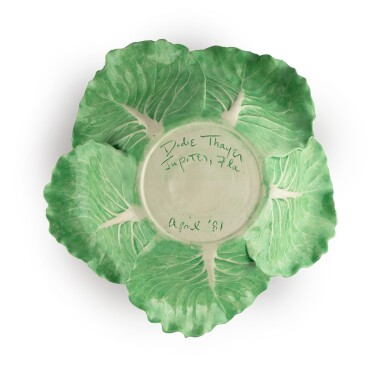 View 3. Thumbnail of Lot 230. A DODIE THAYER POTTERY LETTUCE WARE LARGE TUREEN, COVER AND STAND, MODERN.