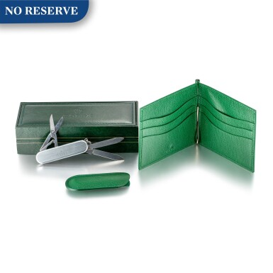 ROLEX | A SET OF LEATHER WALLET, WATCH BOX AND ARMY TOOLS, CIRCA 2000