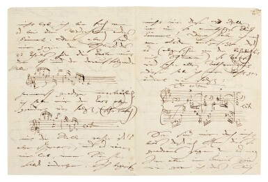 View 1. Thumbnail of Lot 35. Clara Schumann. 215 unpublished letters to the composer and environmentalist Ernst Rudorff, with his replies, 1858-1896.