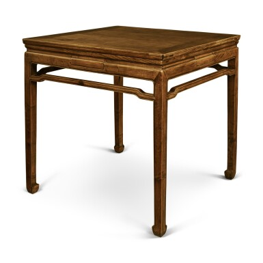 View 6. Thumbnail of Lot 148. A 'huanghuali' and mixed-hardwood square games table, Late Qing dynasty / early 20th century.