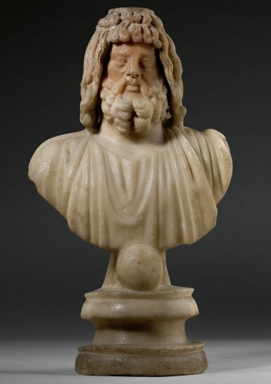 View 1. Thumbnail of Lot 31. A ROMAN MARBLE BUST OF SARAPIS, CIRCA 2ND CENTURY A.D..