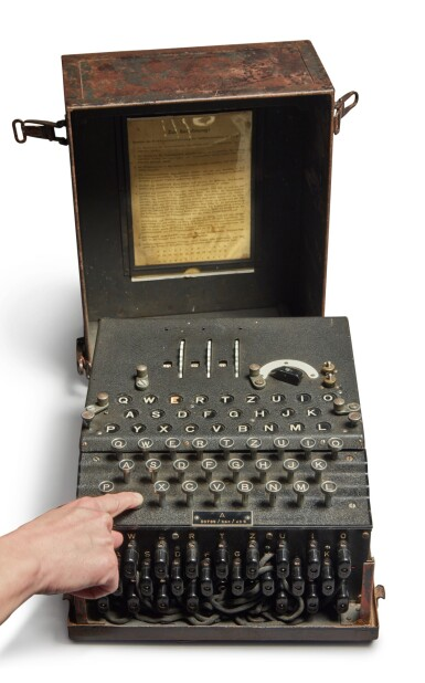 View 1. Thumbnail of Lot 55. A Fully Operational Enigma I in Original Condition.